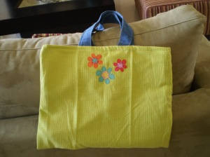 a tea towel totebag